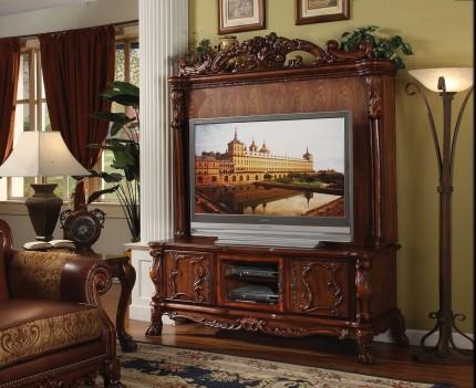 Dresden Cherry Oak Finish  2Pcs TV  Entertainment Center by Acme