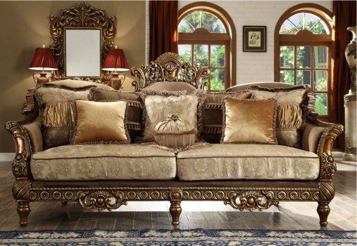 Hd 610 homey design upholstery living room set victorian - Victorian living room set for sale ...