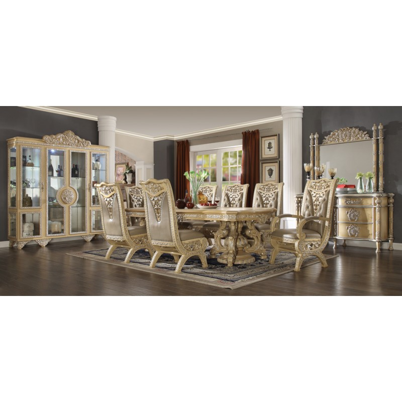 HD 8015 Ivory Finish Dining Set Homey Design Victorian European Classic