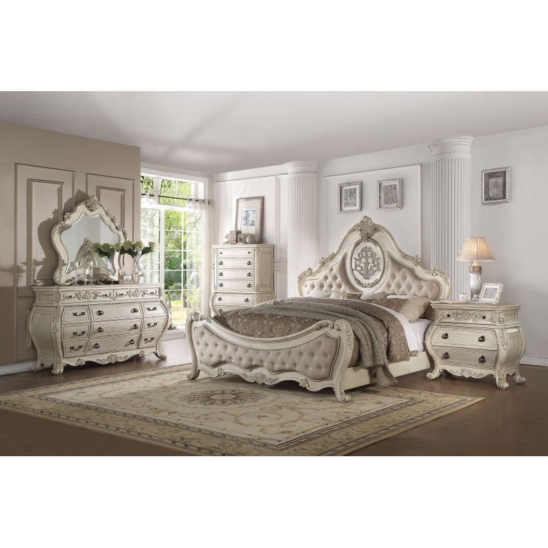 27010 Acme Bedroom Set Ragenardus Collection Antique White Finish. Acme Bedroom Set Ragenardus Collection Antique White Finish