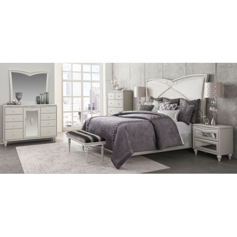 aico melrose plaza bedroom set by michael amini jane seymor. Black Bedroom Furniture Sets. Home Design Ideas