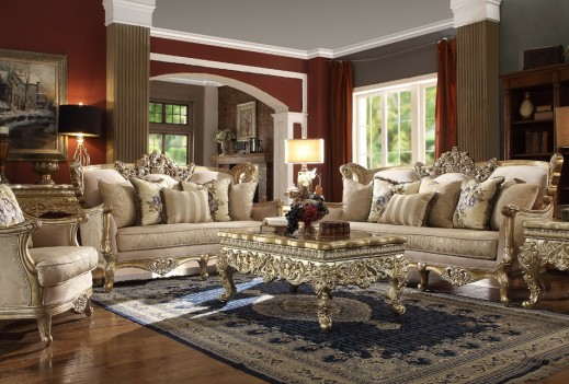 HD 04 Homey Design upholstery living room set Victorian, European & Classic design Sofa Set