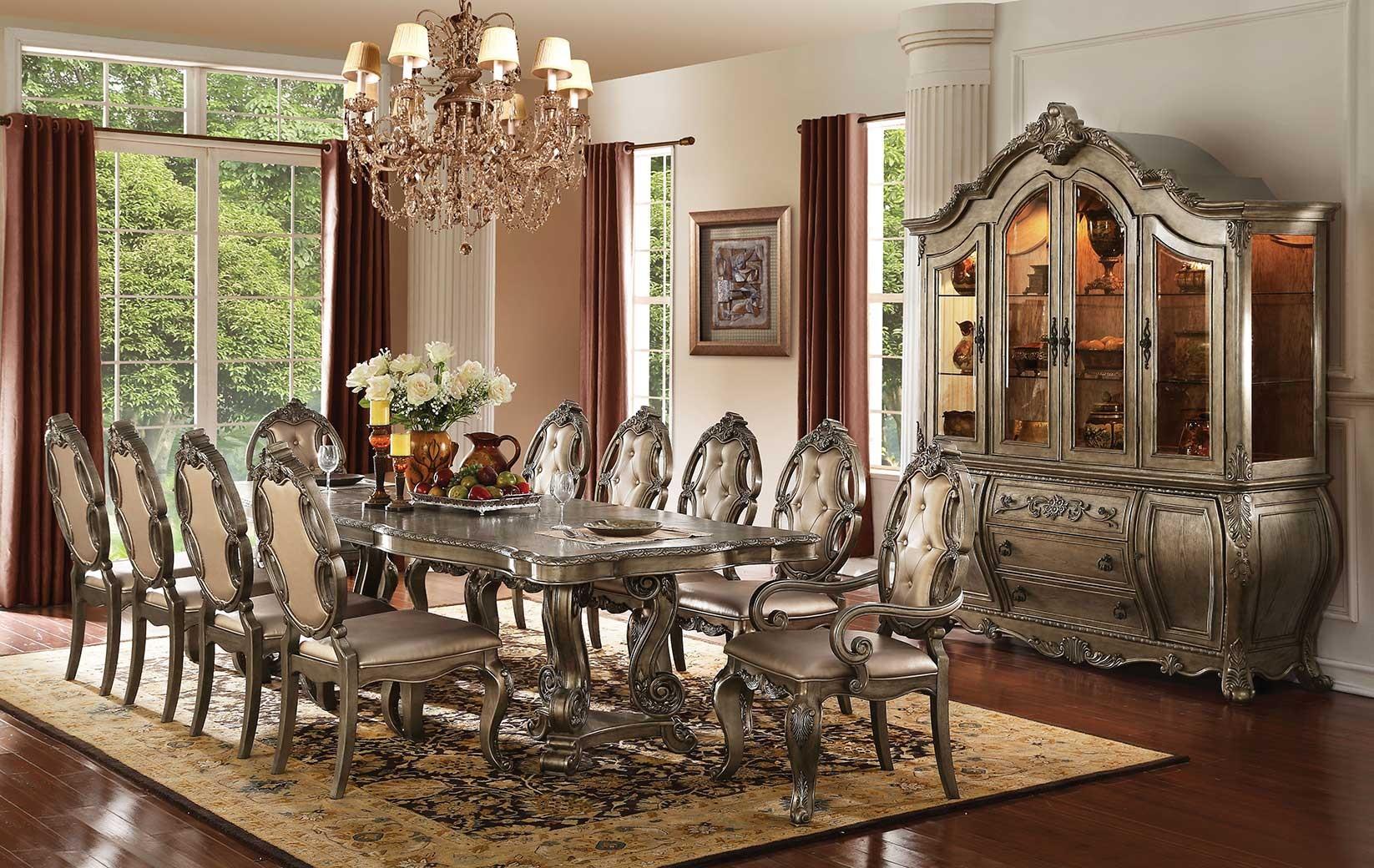 61290 Acme Dining Table Ragenardus Collection in Vintage Oak