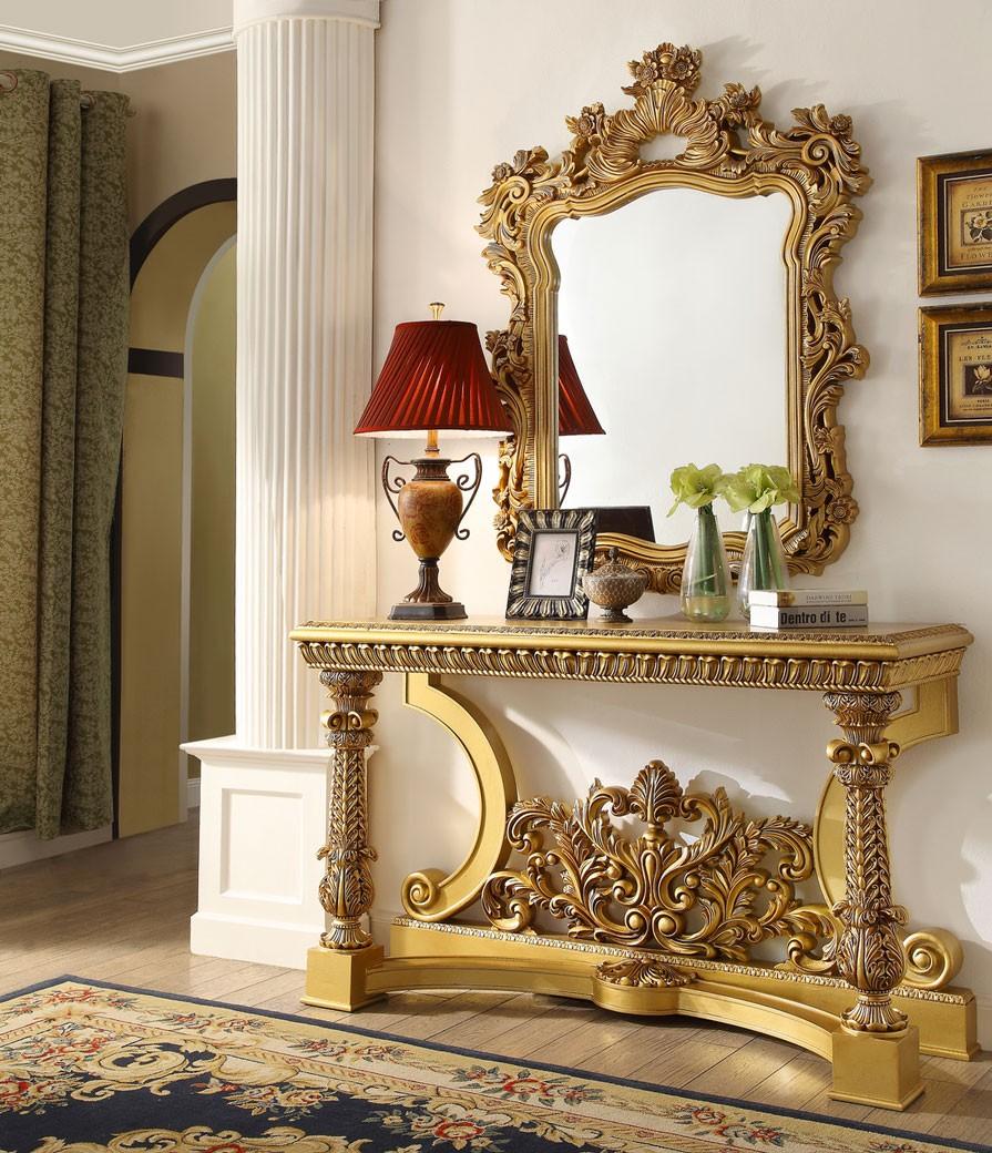 HD 8016 Homey Design Console Table Victorian, European U0026 Classic Design