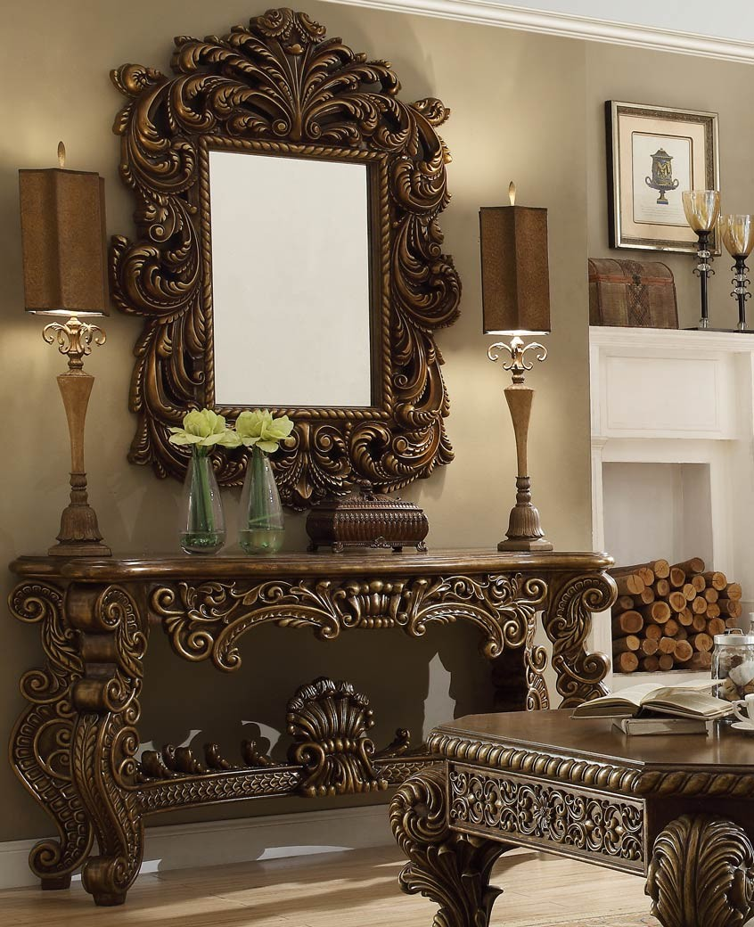 HD 8011 Homey Design Console Table Victorian, European U0026 Classic Design