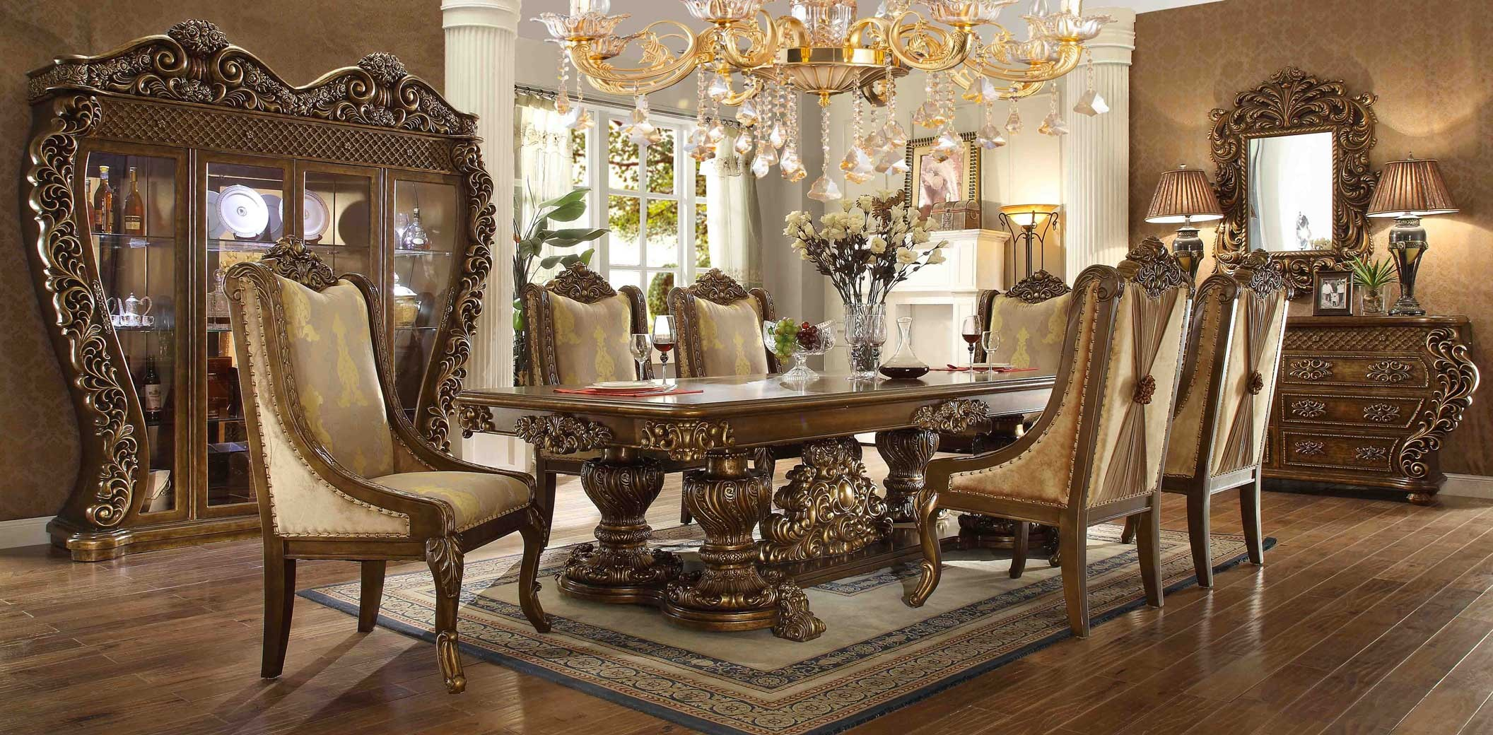 Hd 8011 Homey Design Dining Room Set Victorian European