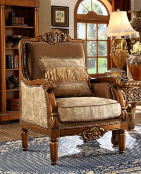 HD 610 Homey Design upholstery Accent Chair Victorian, European & Classic design