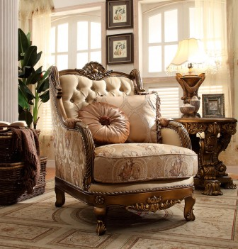 HD 506 Homey Design Accent Chair European Victorian Style