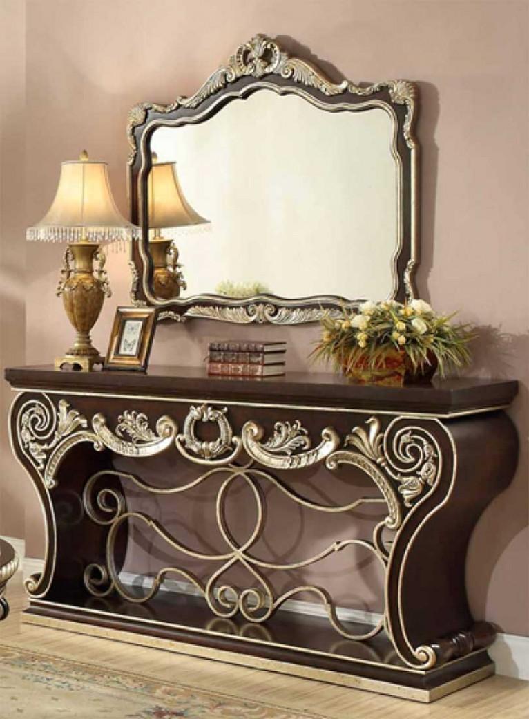 HD 213 Homey Design Console Table Victorian, European U0026 Classic Design