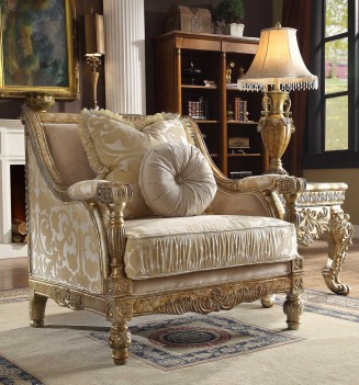 HD 205 Homey Design upholstery Accent Chair Victorian, European & Classic design