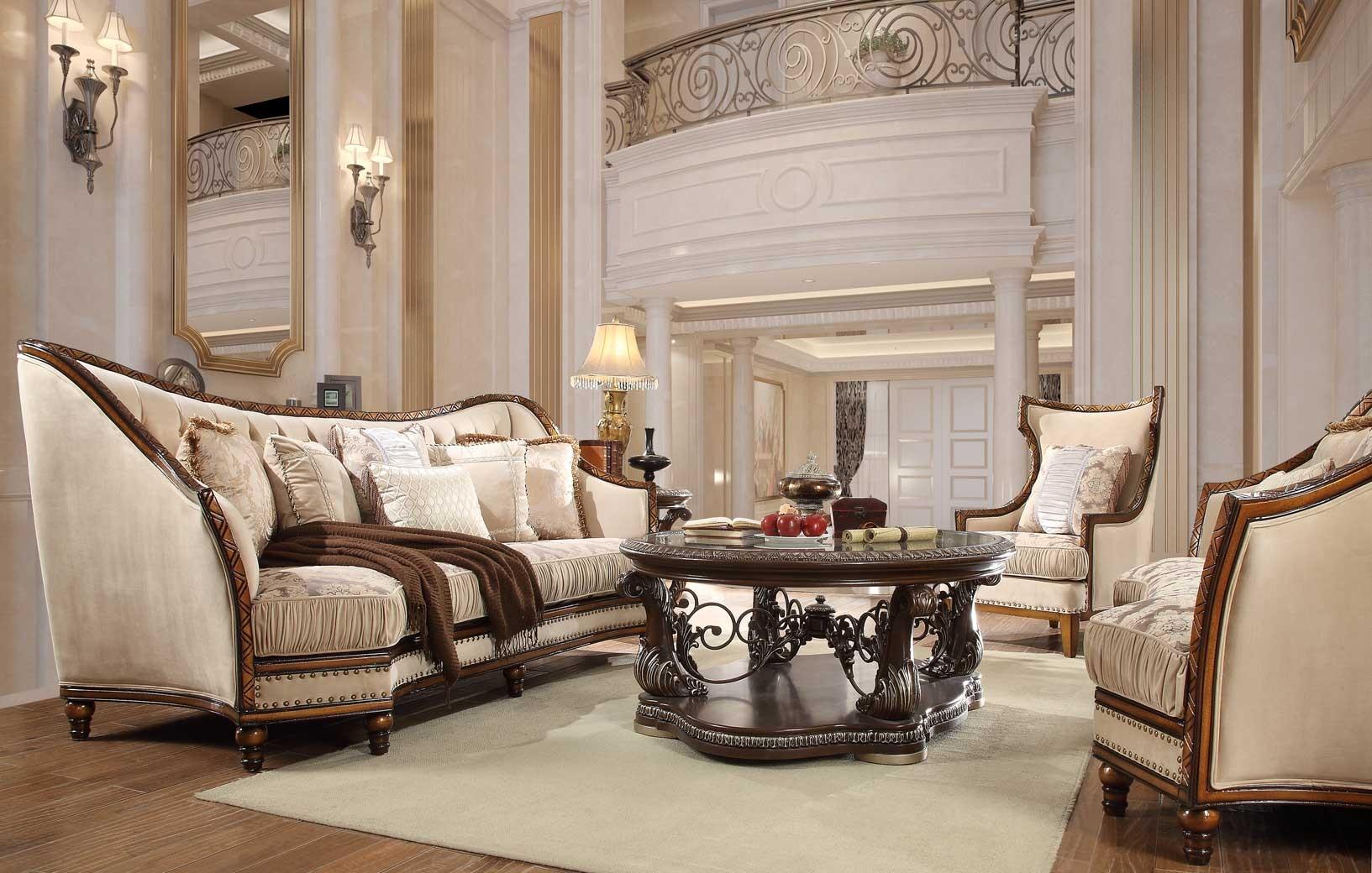 hd 823 homey design upholstery living room set victorian - Homey Design Upholstered