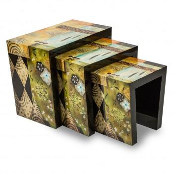 FS-ILUSN-039 Aico Illusions Nesting Tables, 3pc