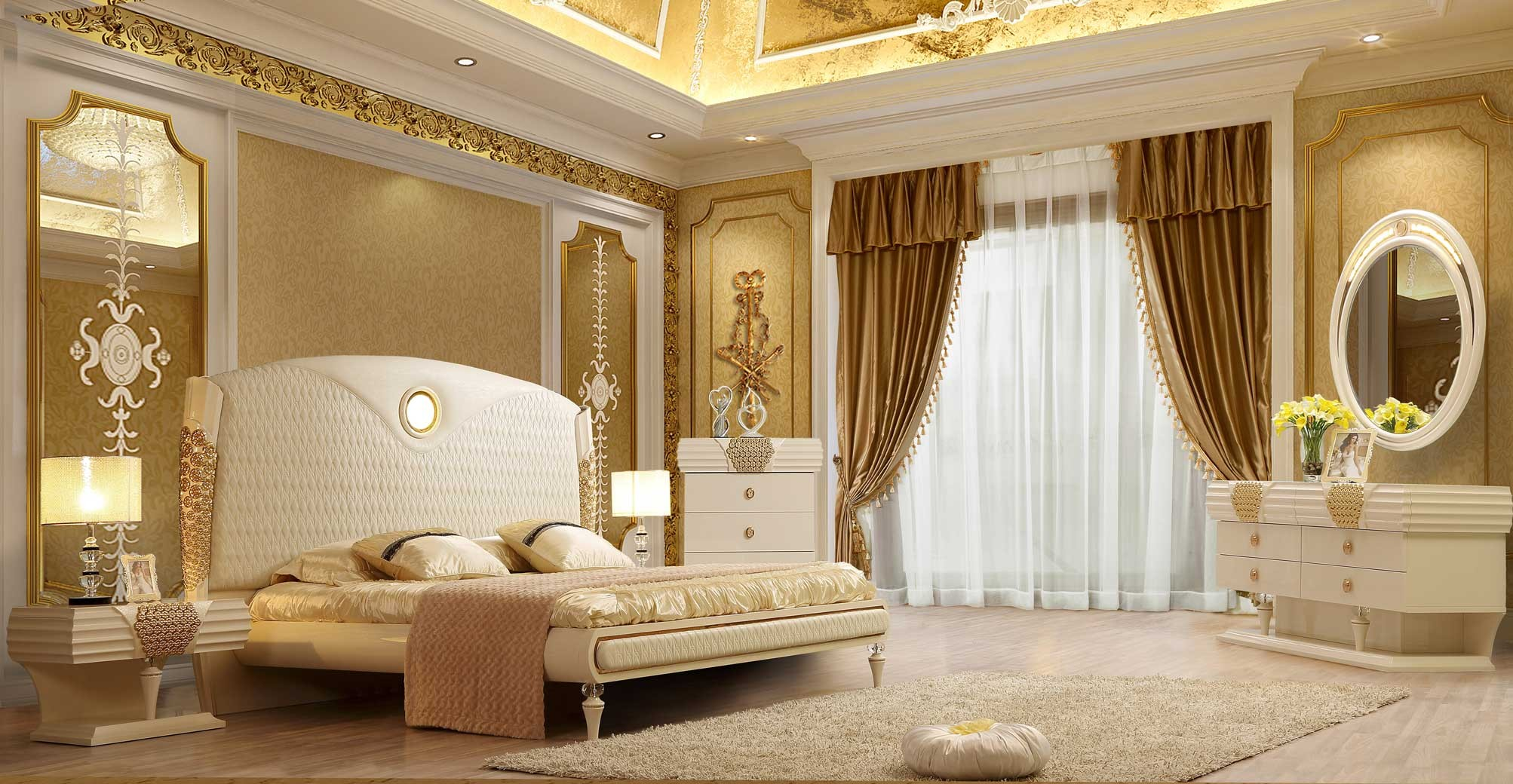 Hd 901 Homey Design Bedroom Set Victorian European