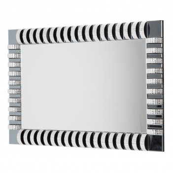 Aico Montreal Rect. Wall Mirror With Crystal And Glass