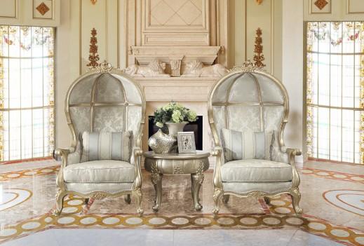 HD 01 Homey Design Accent Chair European Victorian Style