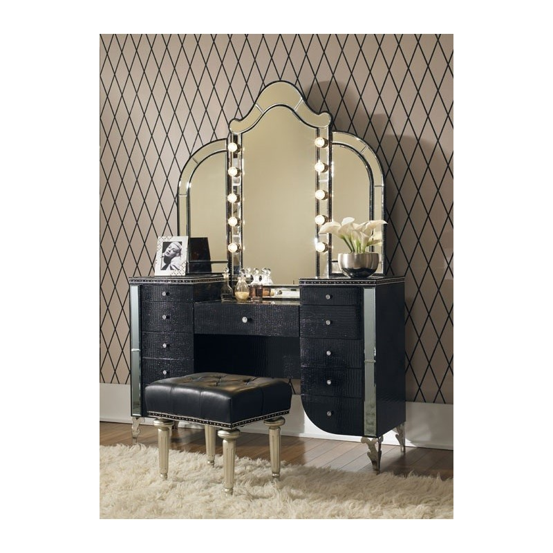 aico hollywood swank starry night 03000 bedroom collection