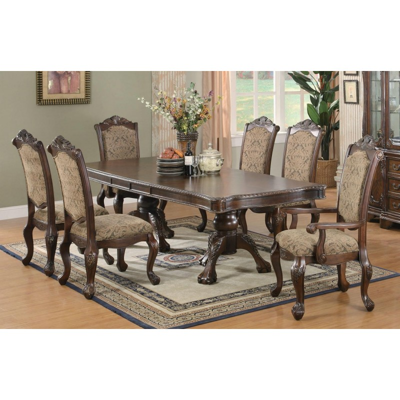 Coaster Formal Dining Set Andrea Collection Brown Cherry Finish