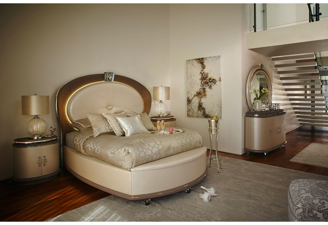 Overture Bedroom Set Collection Creamy Pearl Finish
