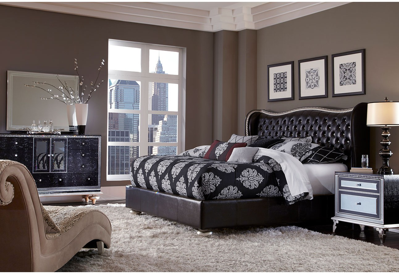 bedrooms aico hollywood swank starry night bedroom set collection
