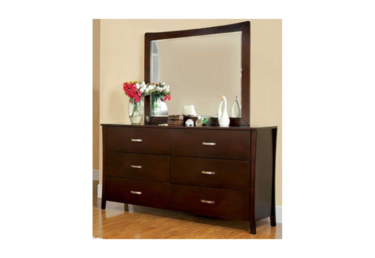 Midland contemporary style brown cherry finish bed frame for Bathroom decor midland