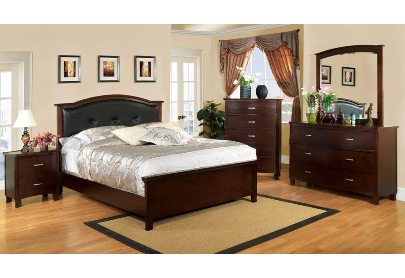 Cherry Bedroom Furniture Traditional import furniture of america traditional bedroom set brown cherry