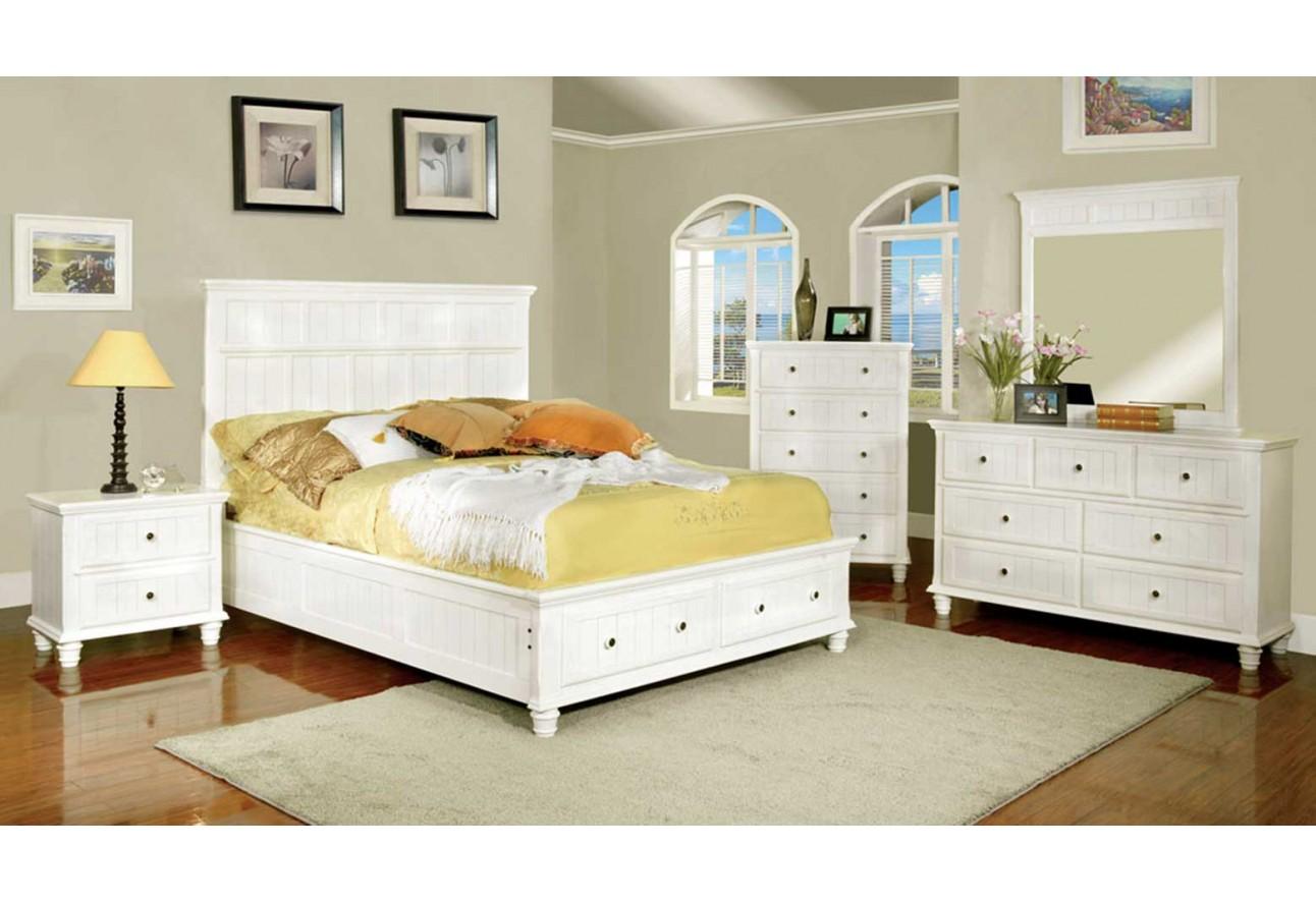 Cm7690 furniture of america colecci n willow creek juego for Juego de recamara queen