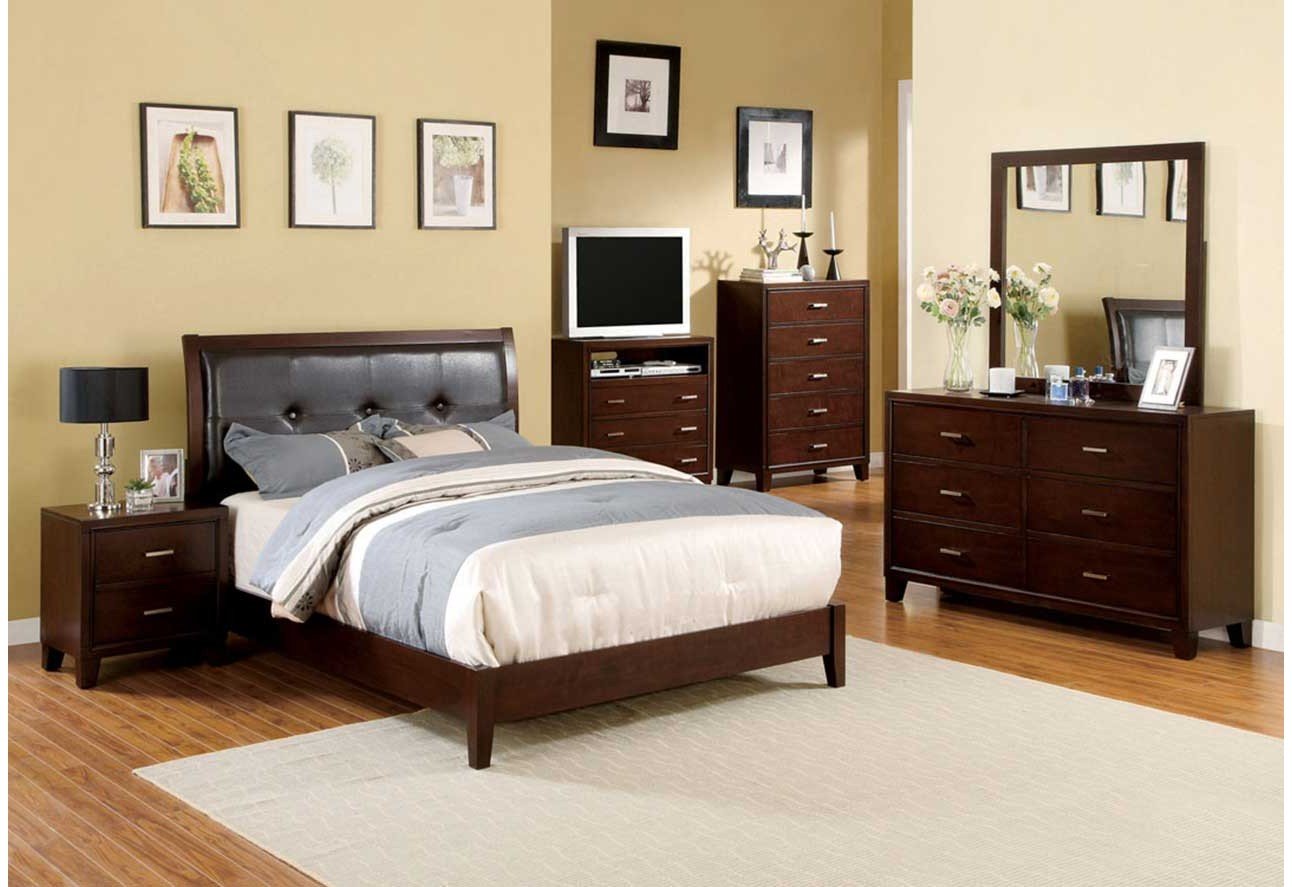 CM7068 Import Furniture of America Traditional Bedroom Set Brown ...