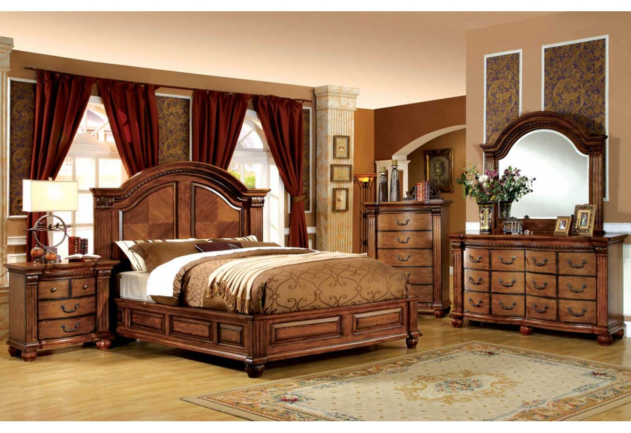 import furniture of america bellgrand traditional bedroom set