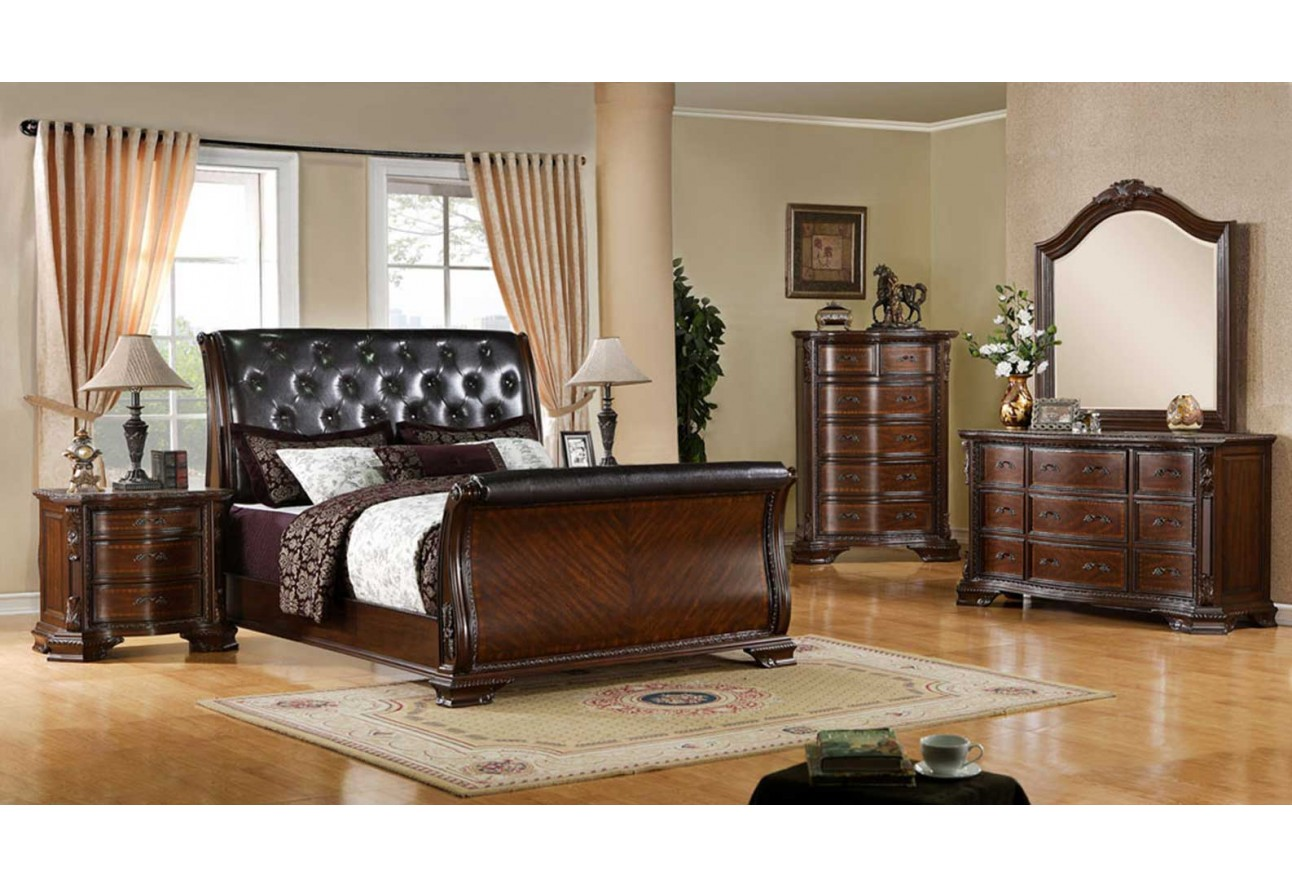 Furniture of America South Yorkshire Bedroom set Sleigh Bed