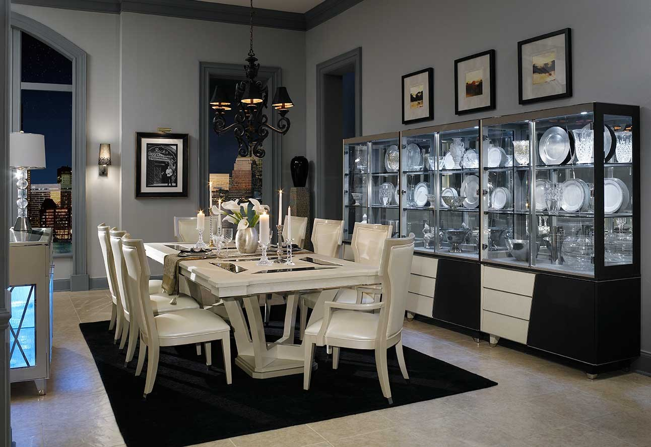 Beverly Blvd Dining Room Collection By Michael Amini - Aico dining room set