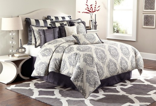 AICO BEDDING - COMFORTER SETS –PEYTON