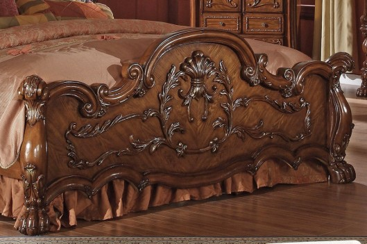 12140Q  Acme Dresden Collection in Cherry Oak Finish