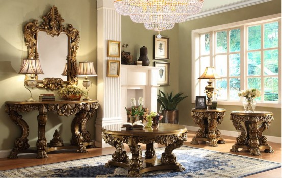 HD 8008 Homey Design Occasional Tables Victorian, European & Classic design