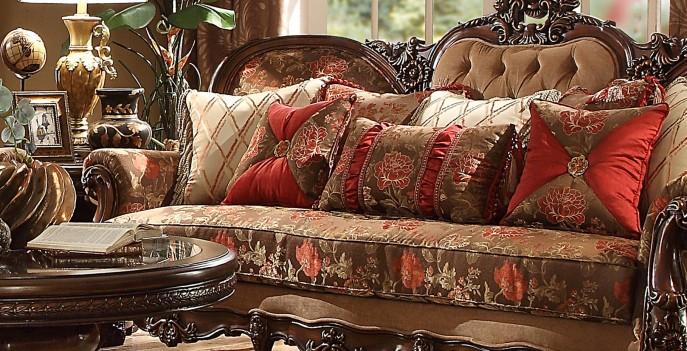 HD 39 Homey Design upholstery living room set  Victorian, European & Classic design  Sofa Set