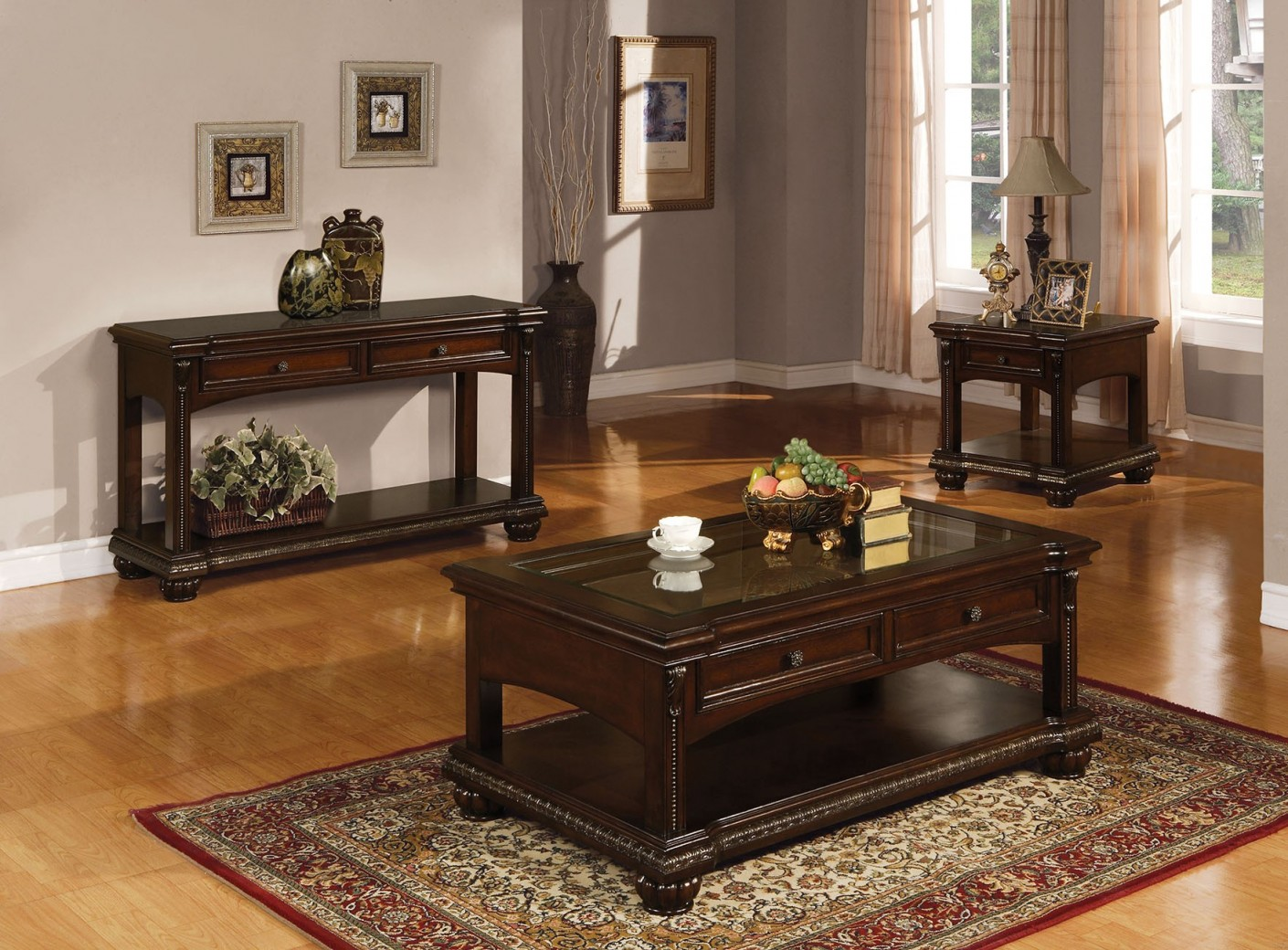 10322 Acme Anondale Occasional Tables cherry Collection