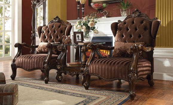 52080 Acme Versailles Living Room Collection Brown Velvet