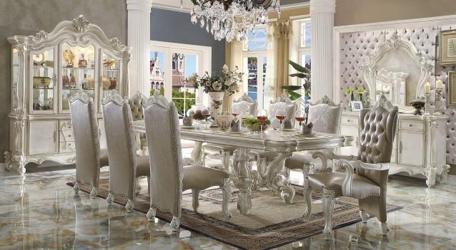 Acme Juego de comedor mesa con vidrio Rectangular 70175