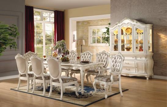 63540 Acme Colección Chantelle Juego de Comedor mesa rectangular en ...