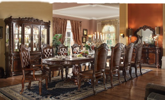 Acme  62000 Rectangular  Dining Set  Vendome  Cherry Finish