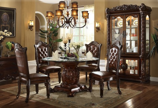 Acme 62010 Round  Dining Set  Vendome  Cherry Finish
