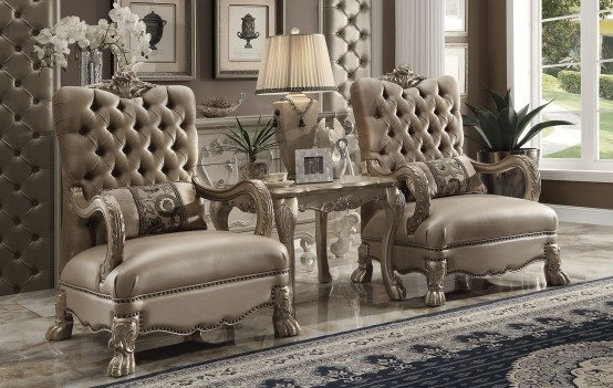 Acme 52090  Dresden Living room  Collection Gold Patina Finish
