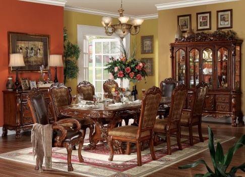 12150 Acme Dresden Dining Set Cherry Oak Collection