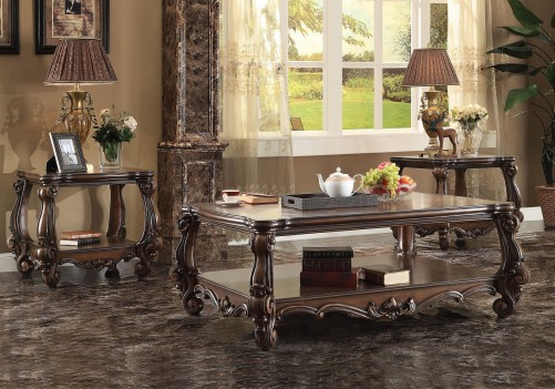 Acme 82120 Coffee Table Versailles Collection  Cherry Oak Finish