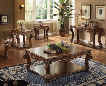 Acme 82000 Coffee Table Vendome Collection Cherry Oak Finish