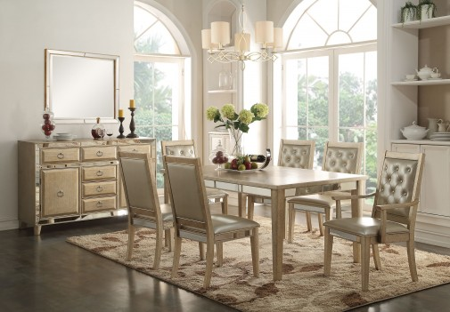 61000 Acme Dinning Set  Voeville White  Finish