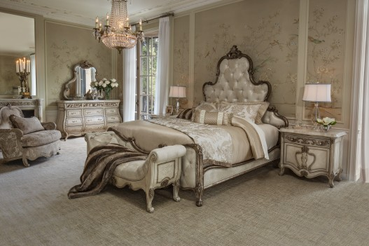 AICO Platine de Royale Bedroom set Collection  Antique Platimun Finish