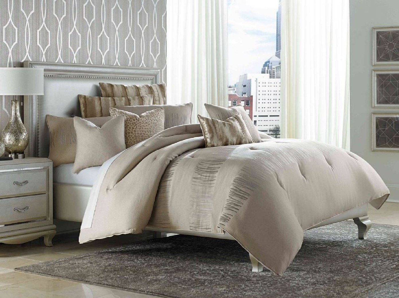 michael amini bedroom set michael amini captiva comforter bedding set by aico 16181