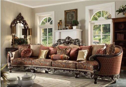 HD 111 Homey Design upholstery living room set Victorian, European & Classic design Sofa Set