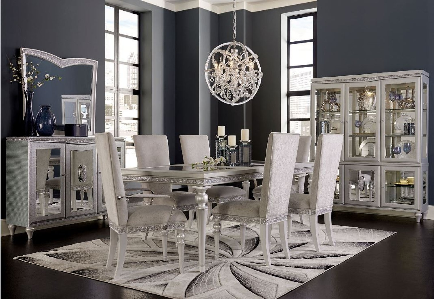 Michael Amini Jane Seymour Melrose Plaza Dining Room Set