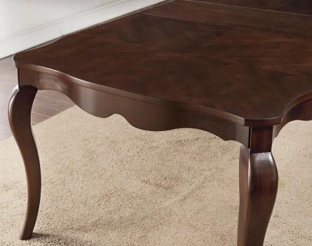 61980 Acme Dining Set Mathias Collection Walnut Finish / Beige Fabric